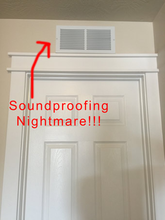 How to Soundproof an Above-Door Air Vent - Soundproof Expert