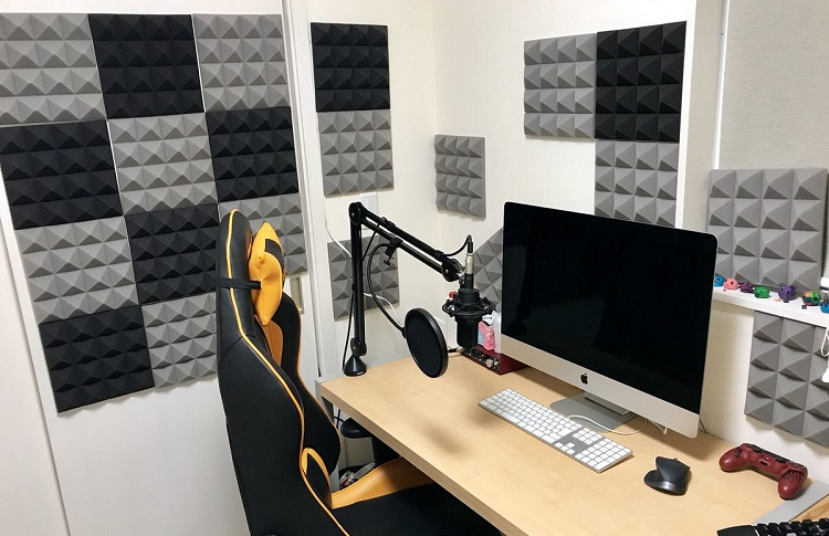 gaming room with sound foam