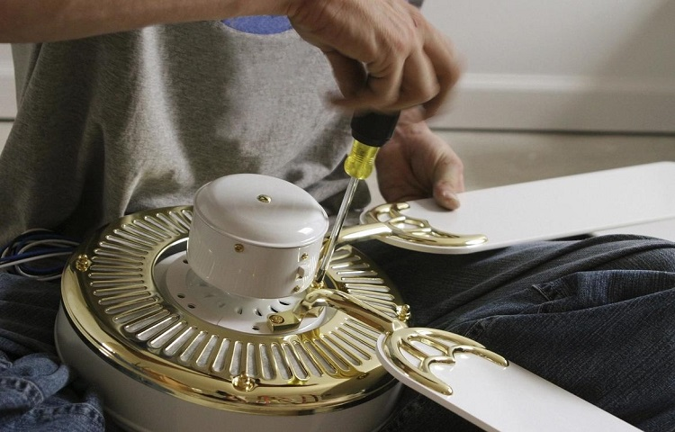 replacing the ceiling fan